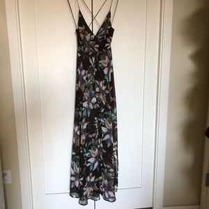 Floral Cross Back Maxi